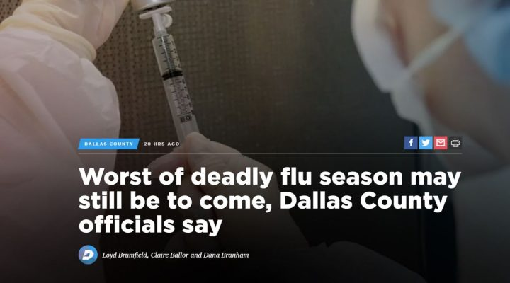 Worst of deadly flu season may still be to come, Dallas County officials say